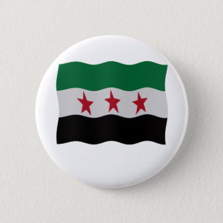 Syrian Republic Flag 1932-59 1961-63 2 Inch Round Button
