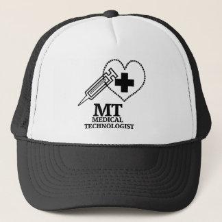 SYRINGE HEART LOGO FOR MT MEDICAL TECHNOLOGIST TRUCKER HAT