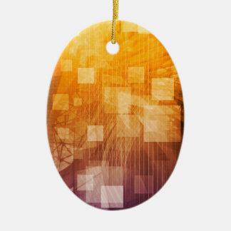 System Development Platform and Reporting Tool Ceramic Oval Ornament