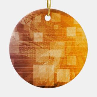 System Development Platform and Reporting Tool Round Ceramic Ornament
