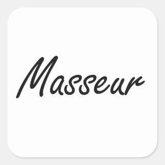 Système de travail artistique de masseur sticker carré