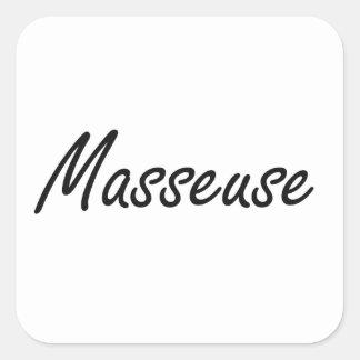 Système de travail artistique de masseuse sticker carré