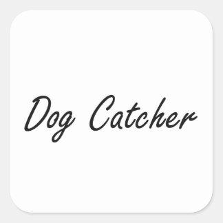 Système de travail artistique de receveur de chien sticker carré