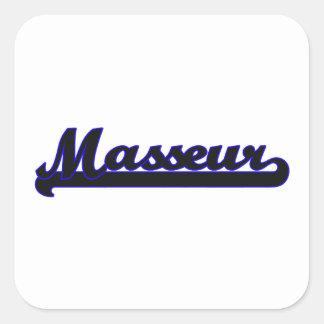 Système de travail classique de masseur sticker carré