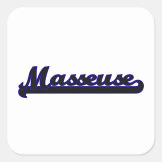 Système de travail classique de masseuse sticker carré