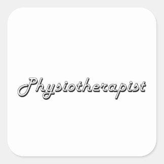 Système de travail classique de physiothérapeute sticker carré