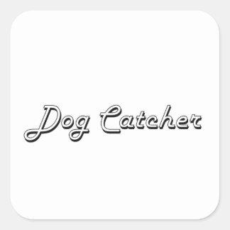 Système de travail classique de receveur de chien sticker carré