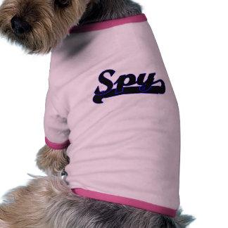 Système de travail classique d'espion t-shirt ringer pour chien