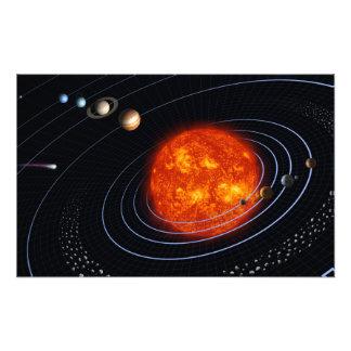 Système solaire 8 photos sur toile