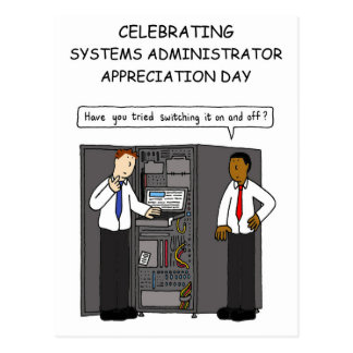 Systems administrator appreciation day. postcard