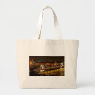Szechenyi Chain Bridge Large Tote Bag