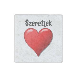 Szeretlek - I love you in Hungarian Stone Magnets