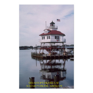 T03001, DRUM POINT LIGHTHOUSE - SOLOMONS ISLAND... POSTER