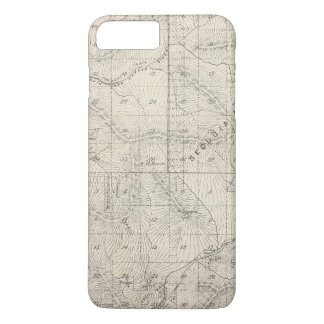 T1819S R2930E Tulare County Section Map iPhone 7 Plus Case