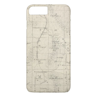 T18S R28E Tulare County Section Map iPhone 7 Plus Case