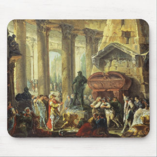 T28516 Alexander the Great visiting the Tomb of Ac Mouse Pad