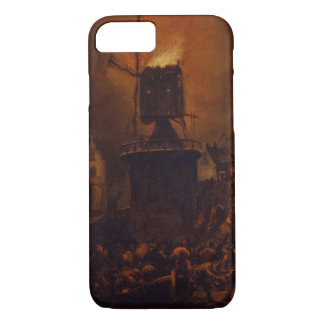 T30554A The Burning Windmill, 1662 (panel) iPhone 7 Case