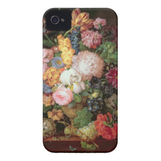 T30763 A Still Life of Flowers and Fruit (panel) iPhone 4 Covers
