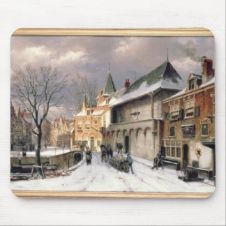 T31117 A View of a Dutch Town in Winter Mouse Pad