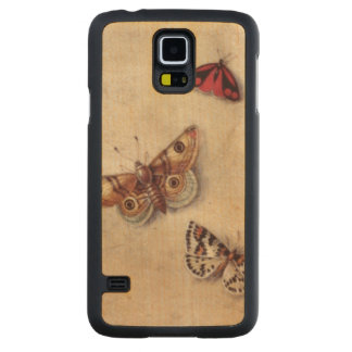 T31566 A Study of Various Insects, Fruit and Anima Carved® Maple Galaxy S5 Case