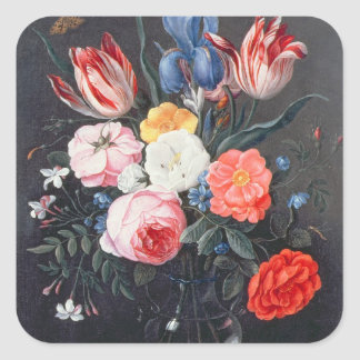 T32511 Still Life of Flowers in a Vase, 1661 (see Square Sticker