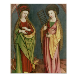 T32982 St. Margaret of Antioch and St. Faith, c.15 Poster
