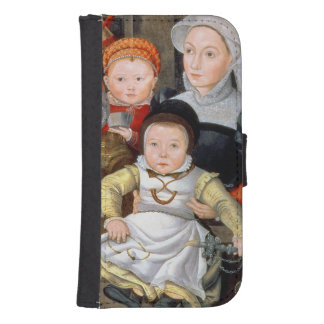 T33337 Portrait of a mother with her eight childre Phone Wallet Case