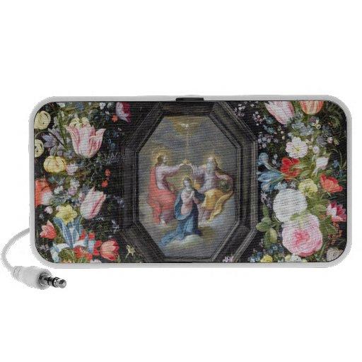 T33453 le couronnement de la Vierge entourée par Haut-parleurs Ordinateur Portable