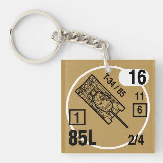 T-34/85 Keychain Fob