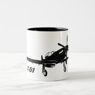 T-51 Mustang Two-Tone Coffee Mug