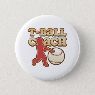 T-Ball Coach 2 Inch Round Button
