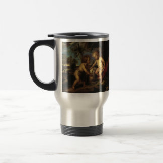 T. C. Steele-Christ Child and the Infant St. John Stainless Steel Travel Mug
