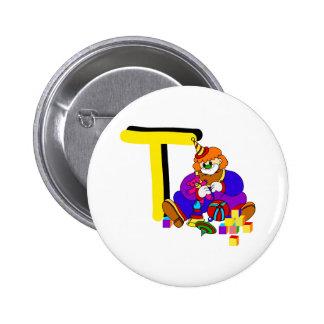 T Clown 2 Inch Round Button