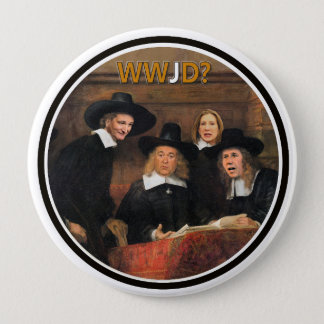 T.Cruz, M. Hickabee, R. Santorum & C. Fiorini 4 Inch Round Button
