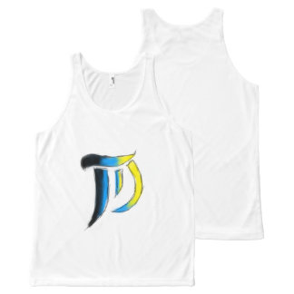 T.D. Arts Logo Uni-sex Sleeveless All-Over-Print Tank Top