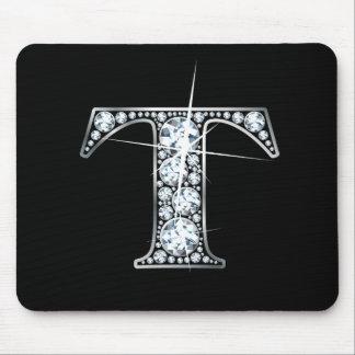 """""""T"""" Diamond Bling Mousepad"""