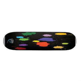T-Does Designs paint splats skateboard