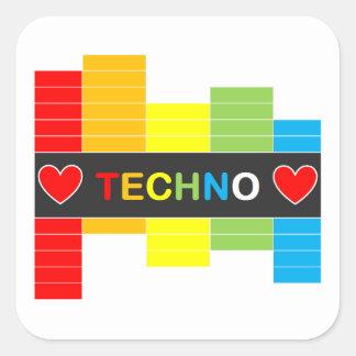 :: T E C H N O :: Sticker - Rainbow