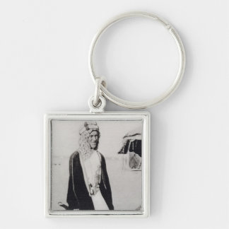 T. E. Lawrence in Arab Dress (b/w photo) Keychain