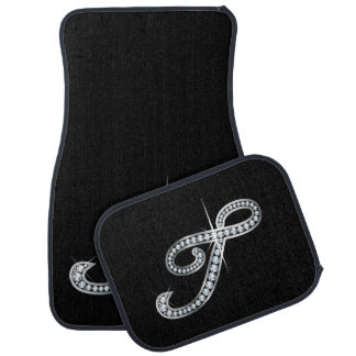 "T Faux-""Diamond Bling"" Car Mat"
