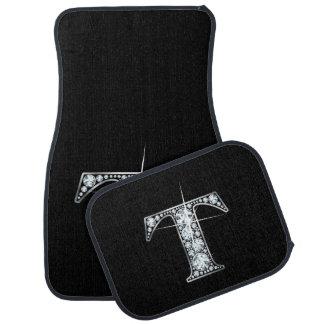 """T Faux-""""Diamond"""" Monogram Floor Mat"""