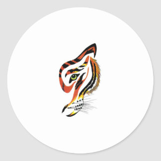 T for tigers! classic round sticker