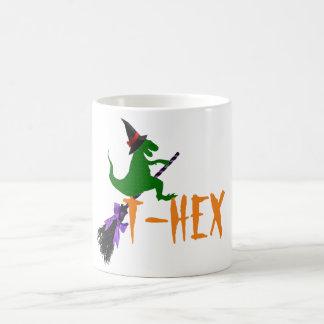 T-hex T-rex funny spooky halloween mug design