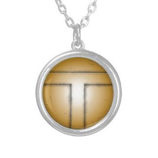 T initial letter necklaces