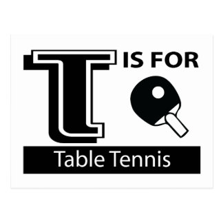T Is For Table Tennis Postcard