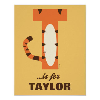T is for Tigger | Add Your Name Poster