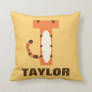T is for Tigger | Add Your Name Throw Pillow