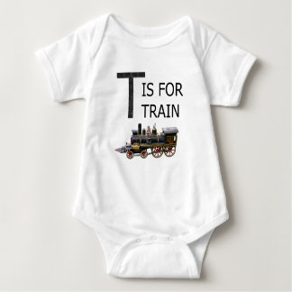 T IS FOR TRAIN BABY BODYSUIT