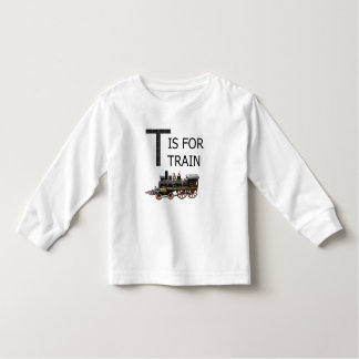 T IS FOR TRAIN TODDLER T-SHIRT