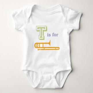 T is for Trombone Baby Bodysuit